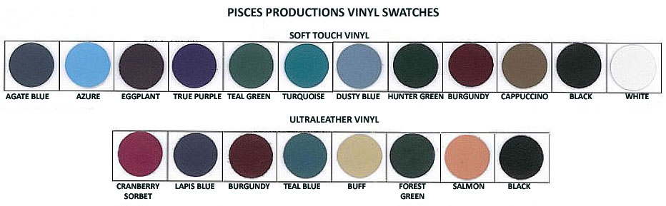 Pisces Productions Soft Touch and UltraLeather Vinyl Swatches