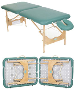Pisces Productions New Wave Hardwood Lightweight Wood Frame Massage Reiki Table