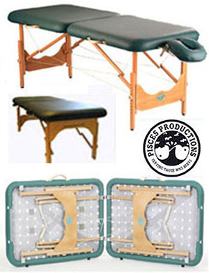 Pisces Productions New Wave Hardwood Massage Reiki Table