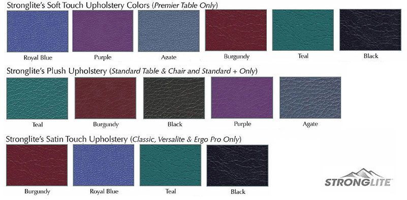 Stronglite Upholstery Colors & Vinyl Swatches